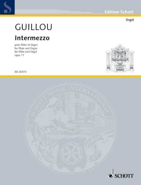 Intermezzo Op. 17 Guillou, Jean Flute And Organ 9790001151733 Kleuren Zijn Opvallend